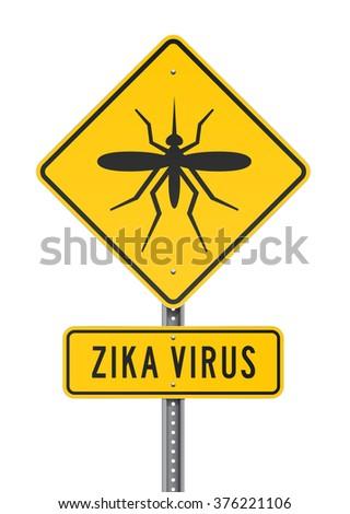 Zika Virus Roadsign - stock vector