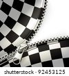 Zipper, checkered vector - stock photo