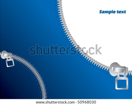 Zipper open and closed - stock vector