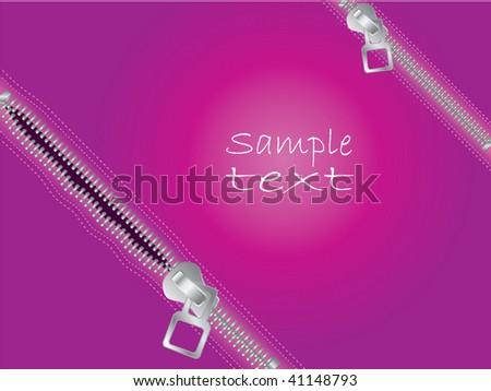 Zippers - stock vector