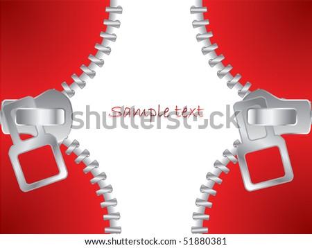 Zippers closing - stock vector