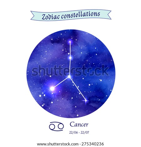 Zodiac constellation. Cancer. The Crab. Vector illustration - stock vector
