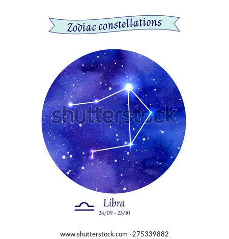 Zodiac constellation. Libra. The Scales. Vector illustration - stock vector
