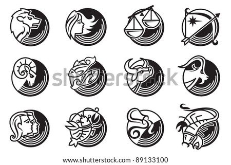zodiac sign - stock vector
