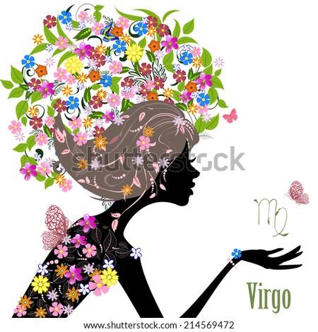 Zodiac sign virgo. fashion girl - stock vector