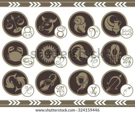Zodiac Signs - stock vector