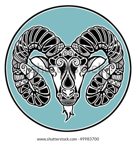 Zodiac signs - Aries - stock vector