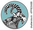 Zodiac signs - Capricorn - stock vector