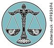Zodiac signs - Libra - stock vector