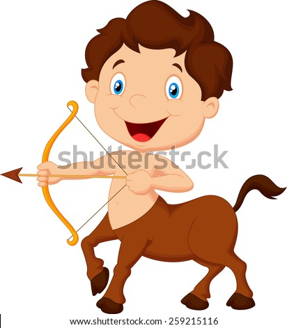 Zodiac symbol Sagittarius  - stock vector