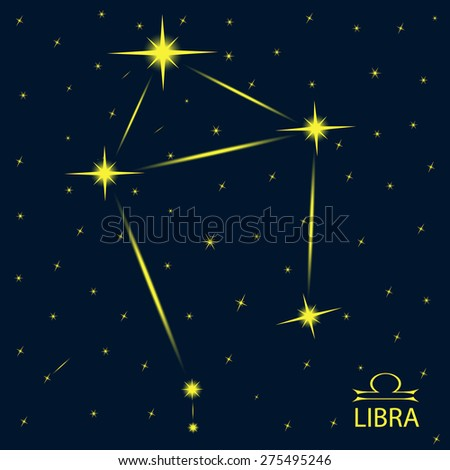 Zodiacal constellations LIBRA. - stock vector