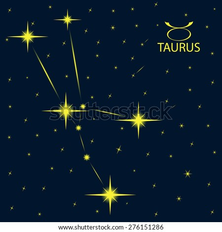 Zodiacal constellations TAURUS. - stock vector