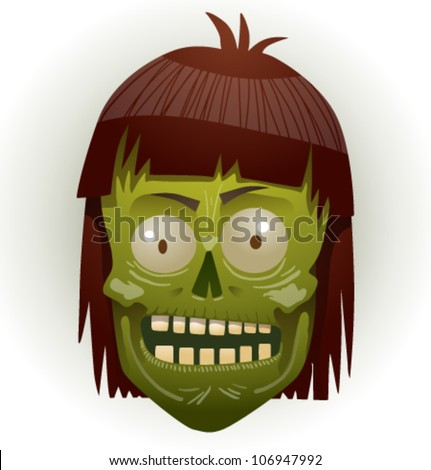 zombie face 03 - stock vector