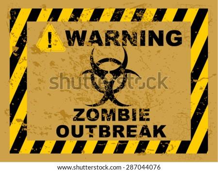 zombie outbreak - stock vector