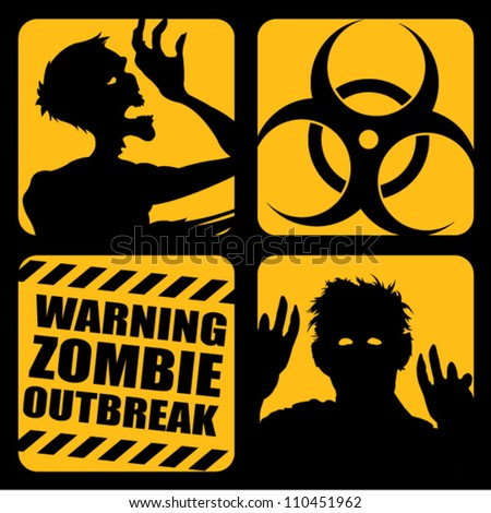 Zombie Outbreak Icons - stock vector