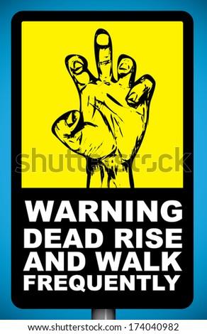 Zombie Warning - stock vector