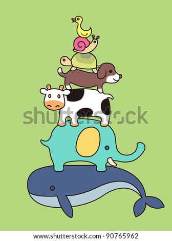 zoo - stock vector