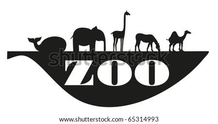 zoo on sheet - stock vector