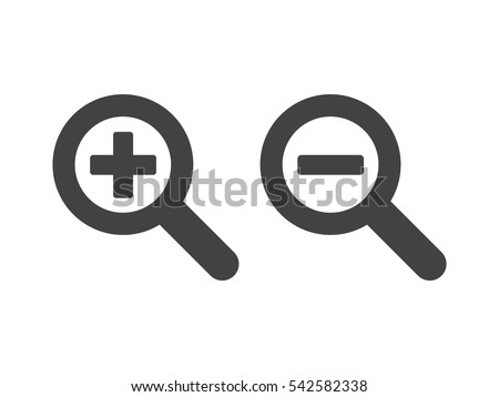 Zoom Out Magnifying Glass Icon Vector Stock Vector 542582338