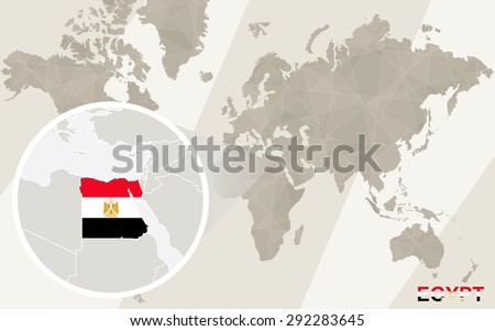 Zoom on egypt map flag world stock vector 292283645 shutterstock zoom on egypt map and flag world map gumiabroncs