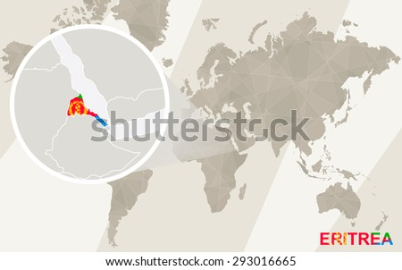 Zoom on eritrea map flag world stock vector 293016665 shutterstock zoom on eritrea map and flag world map gumiabroncs Gallery