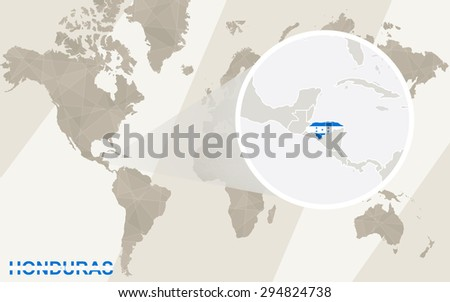 Zoom on honduras map flag world stock vector 294824738 shutterstock zoom on honduras map and flag world map gumiabroncs Choice Image