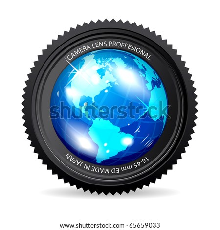 Zoom the World - stock vector
